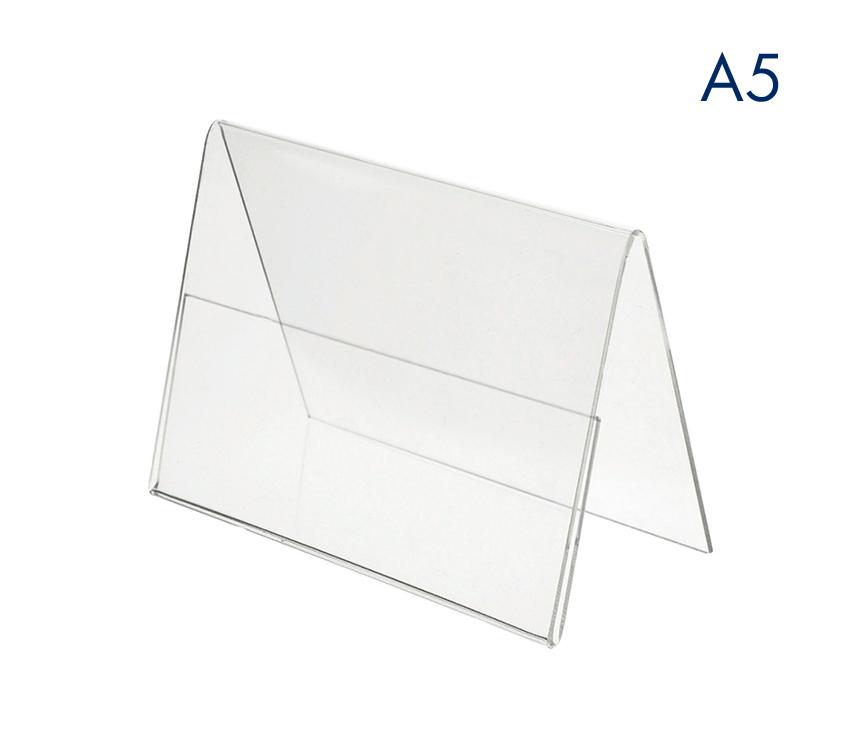 Ценникодержатели горизонтальные двухсторонние пластиковые А5