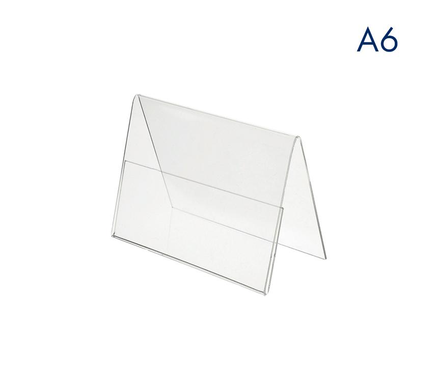 Ценникодержатель двухсторонний пластиковый А6