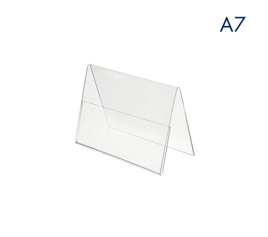 Ценникодержатели горизонтальные двухсторонние пластиковые А7