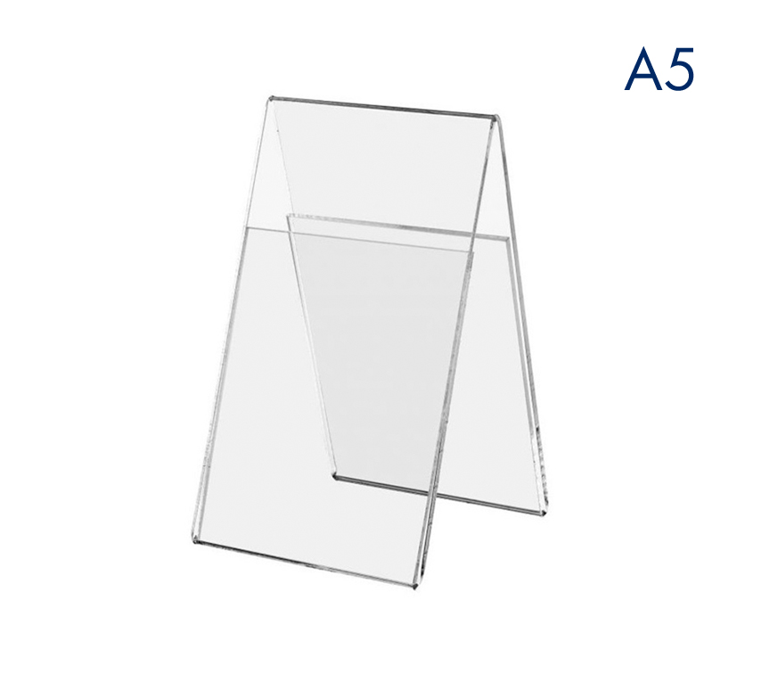 Ценникодержатель вертикальный двухсторонний пластиковый А5