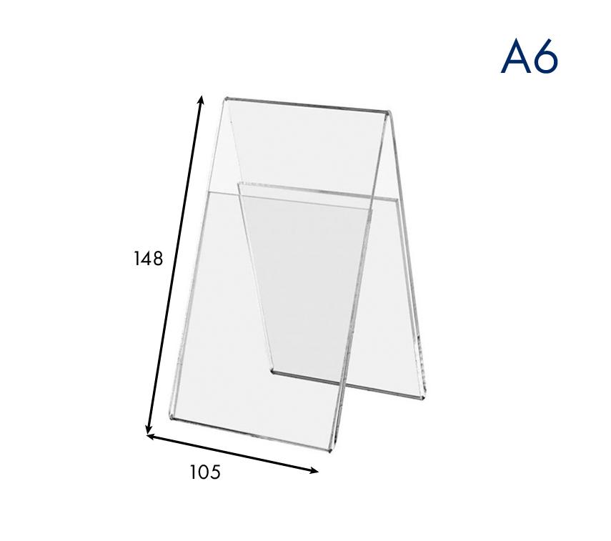 Ценникодержатель вертикальный двухсторонний пластиковый А6