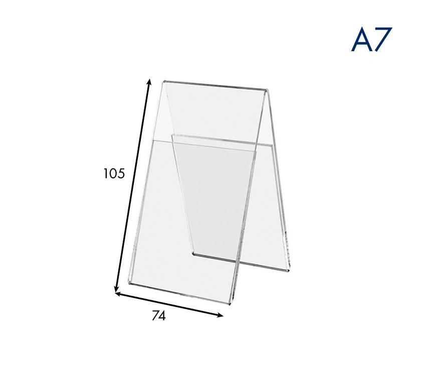 Ценникодержатель вертикальный двухсторонний пластиковый А7
