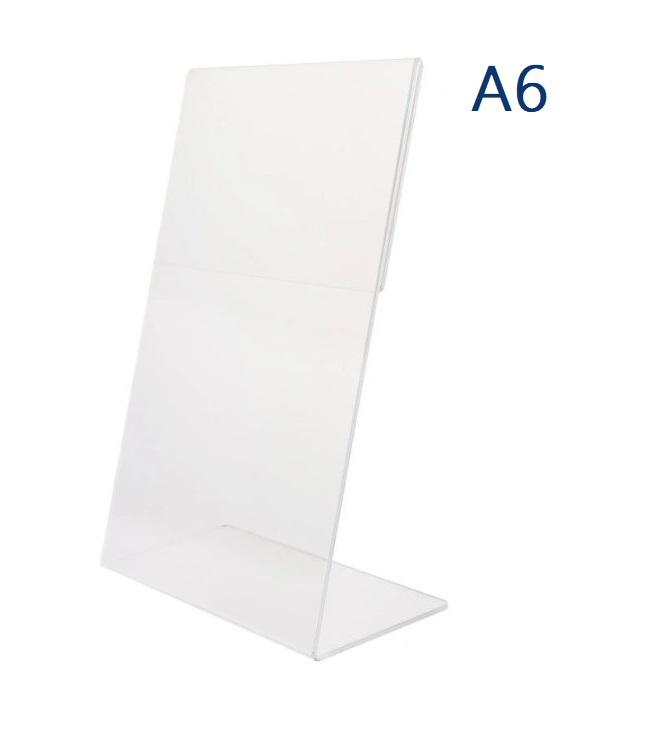 Тейбл тенты и менюхолдеры А6 Г-образные вертикальные
