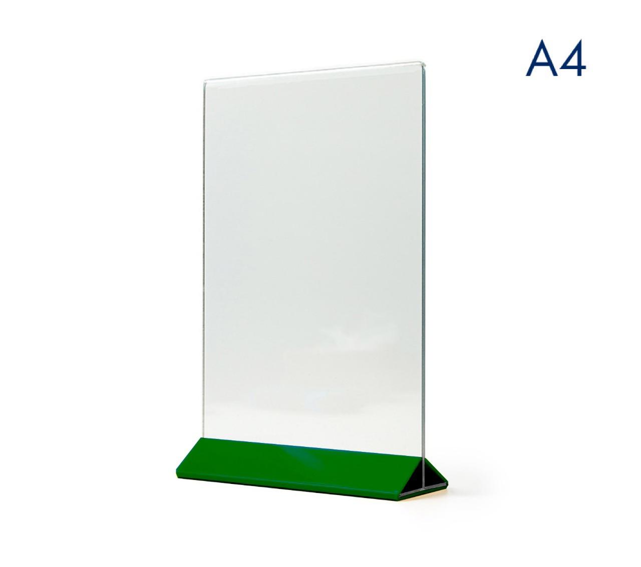 Менюхолдер (тейбл тент) А4 вертикальный цветное основание