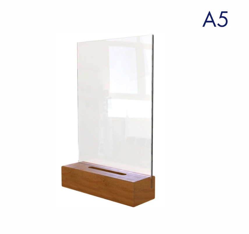 менюхолдер а5 на деревянном основании размеры