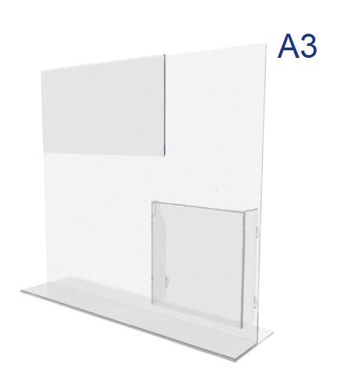 менюхолдер с буклетницей формата А3